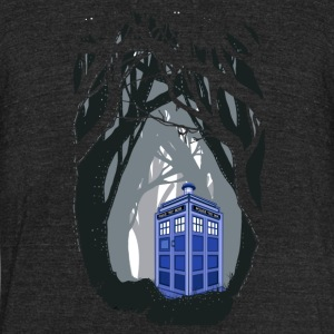 time traveller box lost in the wood - Unisex Tri-Blend T-Shirt by American Apparel
