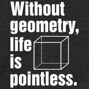 Without geometry life is pointless T Shirt - Unisex Tri-Blend T-Shirt by American Apparel