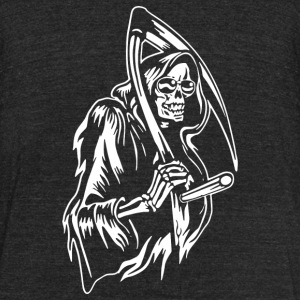 Grin Of The Reaper - Unisex Tri-Blend T-Shirt by American Apparel
