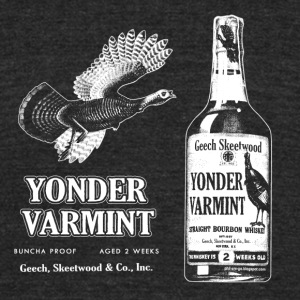 Yonder Varmint Whiskey. - Unisex Tri-Blend T-Shirt by American Apparel