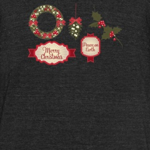 Christmas Elements 8 - Unisex Tri-Blend T-Shirt by American Apparel