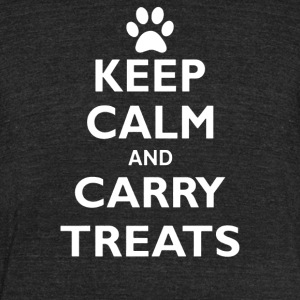 Keep Calm And Carry Treats Funny Dog Training Trai - Unisex Tri-Blend T-Shirt by American Apparel