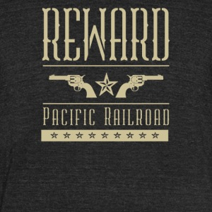 Reward pacific railroad - Unisex Tri-Blend T-Shirt by American Apparel