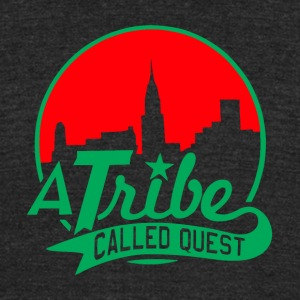 a_tribe_called_quest_green_red - Unisex Tri-Blend T-Shirt by American Apparel