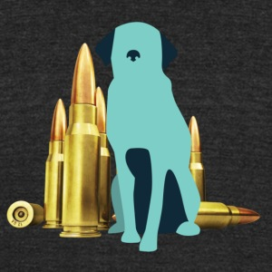 Bullet Dog - Unisex Tri-Blend T-Shirt by American Apparel