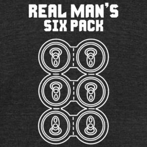 Real Man s Six Pack - Unisex Tri-Blend T-Shirt by American Apparel