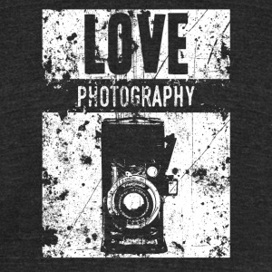 LOVE PHOTOGRAPHY - Unisex Tri-Blend T-Shirt by American Apparel