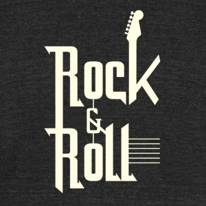 Rock&roll - Unisex Tri-Blend T-Shirt by American Apparel