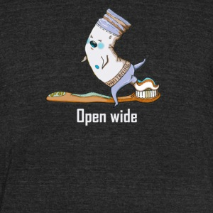 Open wide - Unisex Tri-Blend T-Shirt by American Apparel