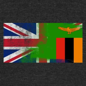 British Zambian Half Zambia Half UK Flag - Unisex Tri-Blend T-Shirt by American Apparel