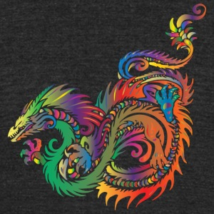 Colorful Dragon - Unisex Tri-Blend T-Shirt by American Apparel