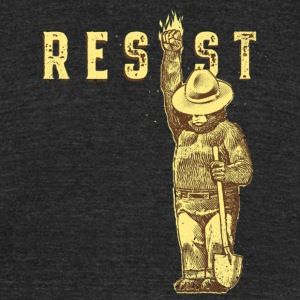 resist say smokey president - Unisex Tri-Blend T-Shirt by American Apparel