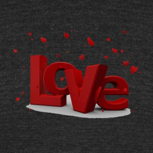 valentine day - Unisex Tri-Blend T-Shirt by American Apparel