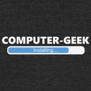 Installing Computer Geek (1027) - Unisex Tri-Blend T-Shirt by American Apparel