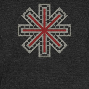 Celtic Knot Dharma Wheel - Unisex Tri-Blend T-Shirt by American Apparel