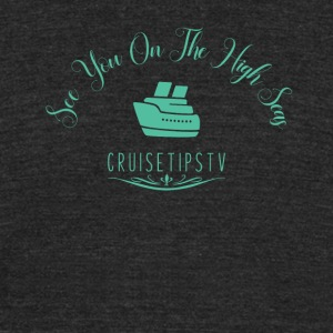 Elegant High Seas Cruise Design - Unisex Tri-Blend T-Shirt by American Apparel