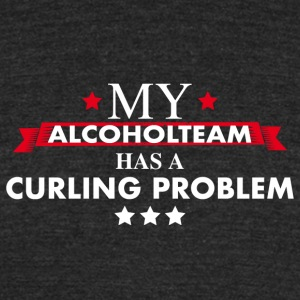 Curling Team with Drinking Problem - Unisex Tri-Blend T-Shirt by American Apparel