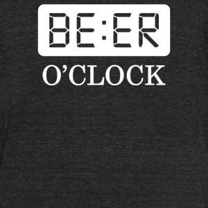 Beer O Clock - Unisex Tri-Blend T-Shirt by American Apparel