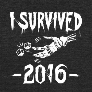 I survived 2016 - Unisex Tri-Blend T-Shirt by American Apparel