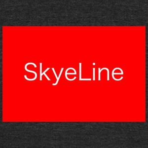 SkyeLine Red and White Box Logo - Unisex Tri-Blend T-Shirt by American Apparel