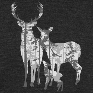 Deers forest - Unisex Tri-Blend T-Shirt by American Apparel