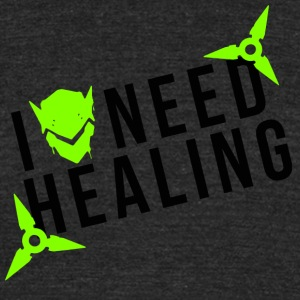 OVERWATCH GENJI I NEED HEALING DESIGN - Unisex Tri-Blend T-Shirt by American Apparel