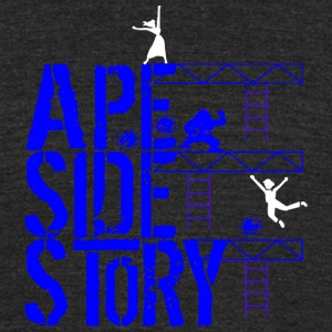 Ape Side Story - Unisex Tri-Blend T-Shirt by American Apparel