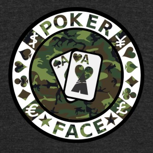 POKER FACE - Unisex Tri-Blend T-Shirt by American Apparel