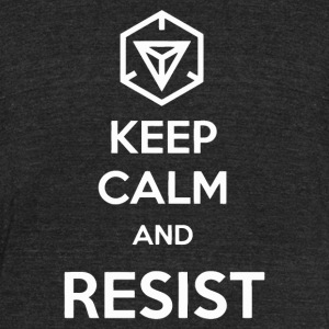 Keep Calm and resist - Unisex Tri-Blend T-Shirt by American Apparel