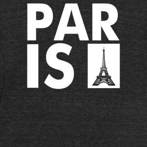Paris Eiffel Tower - Unisex Tri-Blend T-Shirt by American Apparel