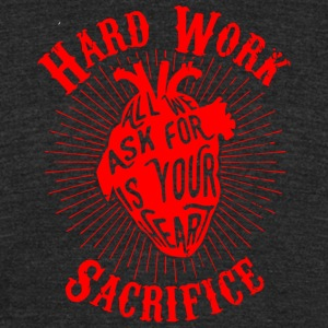Sacrifice - Unisex Tri-Blend T-Shirt by American Apparel