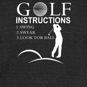 Golf Instructions - Unisex Tri-Blend T-Shirt by American Apparel