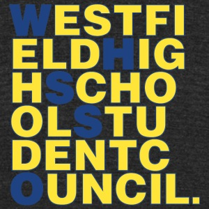 WESTFIELD HIGH SCHOOL STUDENT COUNCIL - Unisex Tri-Blend T-Shirt by American Apparel