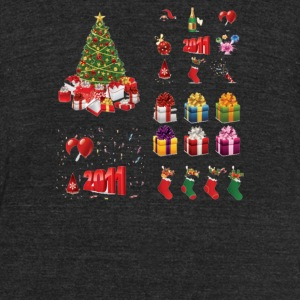 Christmas Elements 9 - Unisex Tri-Blend T-Shirt by American Apparel