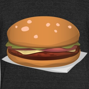 Hamburger - Unisex Tri-Blend T-Shirt by American Apparel