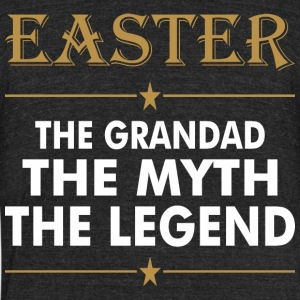 Easter The Grandad The Myth The Legend - Unisex Tri-Blend T-Shirt by American Apparel