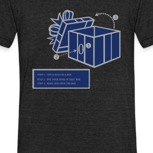 DICK IN A BOX - Unisex Tri-Blend T-Shirt by American Apparel