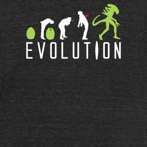Evolution Of An Alien - Unisex Tri-Blend T-Shirt by American Apparel
