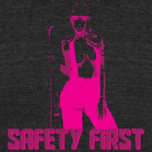 Safety First Pink - Unisex Tri-Blend T-Shirt by American Apparel