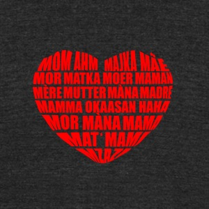 Mom in many languages - Unisex Tri-Blend T-Shirt by American Apparel