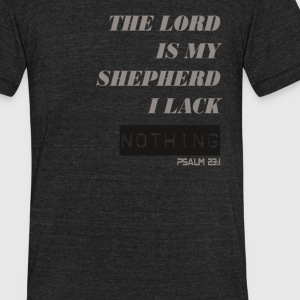 The Lord is My Shepherd - Unisex Tri-Blend T-Shirt by American Apparel