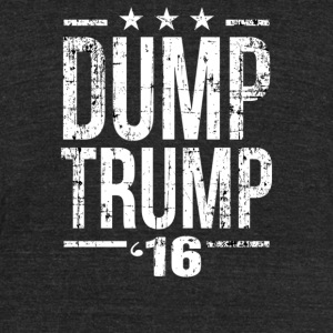 Dump Trump - Unisex Tri-Blend T-Shirt by American Apparel