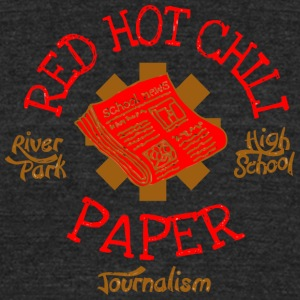 River Park High School Journalism Red Hot Chili Pa - Unisex Tri-Blend T-Shirt by American Apparel