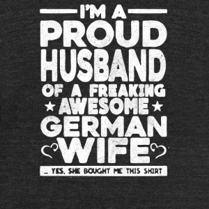 Proud Husband - Unisex Tri-Blend T-Shirt by American Apparel