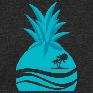 Island Pineapple - Unisex Tri-Blend T-Shirt by American Apparel