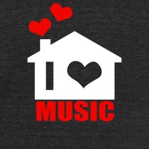 I Love House Music - Unisex Tri-Blend T-Shirt by American Apparel