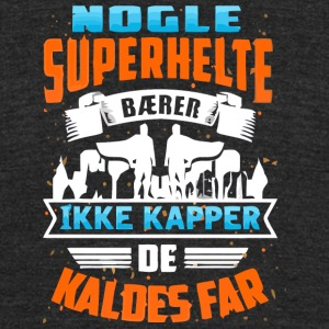 SUPERHELTE FAR BEGR ANSET TIDSPERIODE - Unisex Tri-Blend T-Shirt by American Apparel
