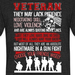 Veteran Tshirt - Unisex Tri-Blend T-Shirt by American Apparel