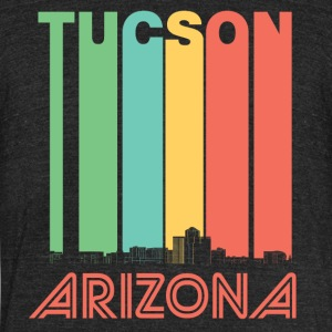 Retro Tucson Arizona Skyline - Unisex Tri-Blend T-Shirt by American Apparel