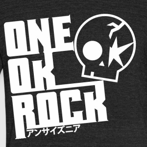 One_ok_rock_skull_white - Unisex Tri-Blend T-Shirt by American Apparel